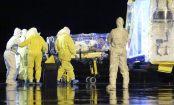Foto de la llegada de Manuel García Viejo, religioso infectado de Ébola. Foto: Ministerio de Defensa