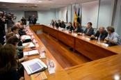 Imagen de una reunión del comité especial sobre la gestión del ébola