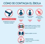 Gráfico sobre cómo se contagia el ébola