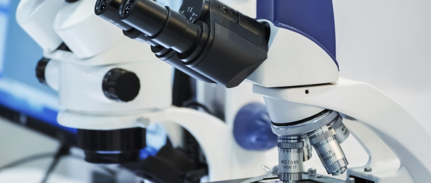 Imagen de microscopio de laboratorio