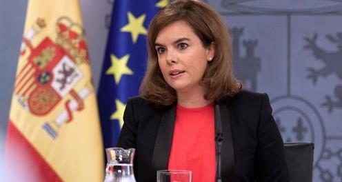 Vicepresidenta Sáenz de Santamaría, 7 Nov 2014 / Fuente: Pool Moncloa